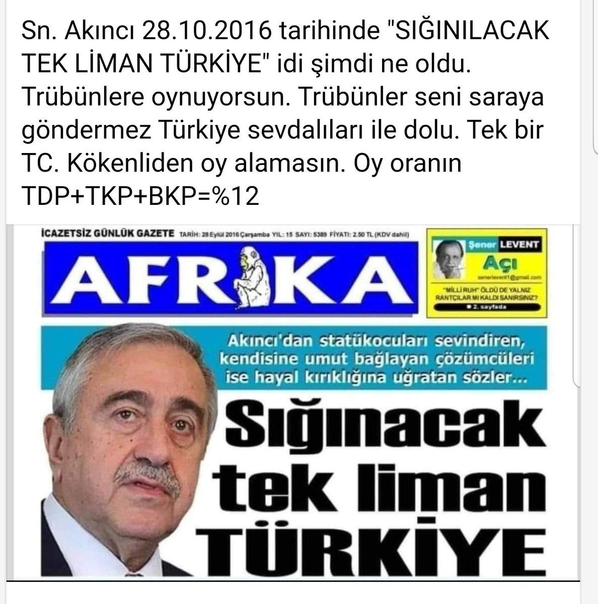 Sığınacak tek  liman Türkiye diyen @MustafaAkinci_1 şimdi siyaset yapacam diye dış güçlerin aklına uyup hareket ediyor. Yapma Akıncı, Kıbrıs için uğraş KENDİN için değil!