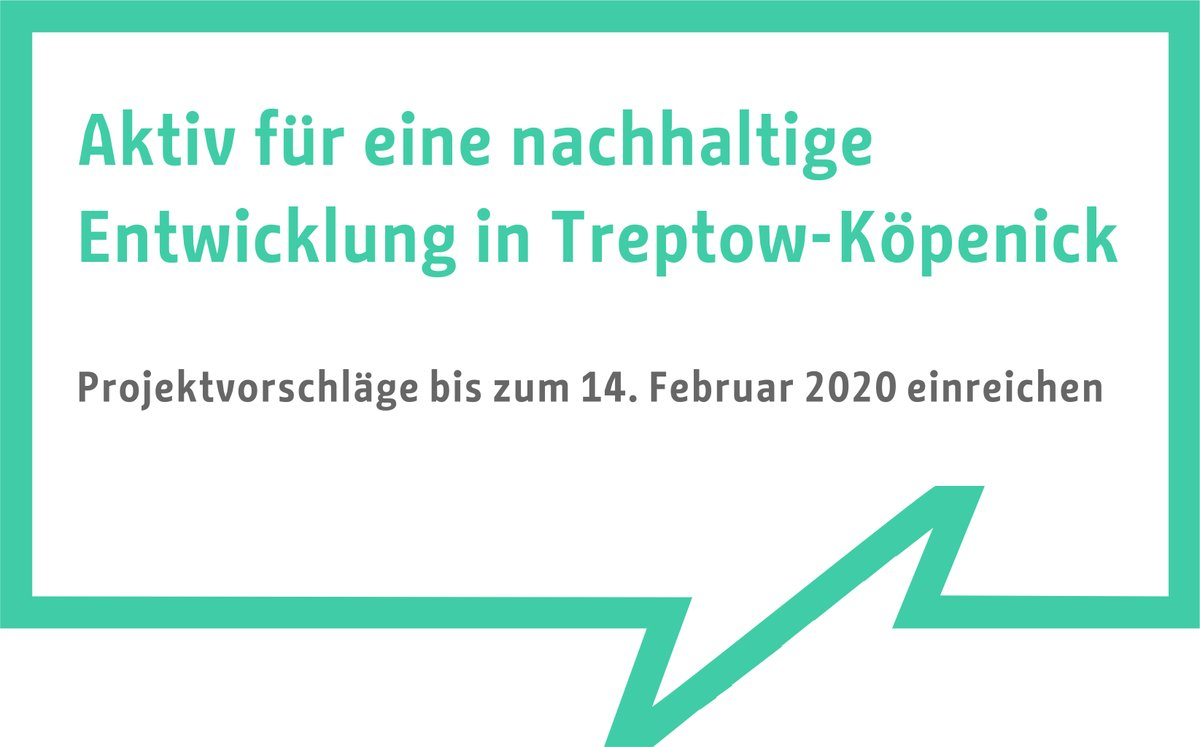 #letzteChance!   Seien Sie #aktiv für eine #nachhaltig|e #Entwicklung in #Treptow-#Köpenick. Weitere Informationen finden Sie hier: https://www.berlin.de/ba-treptow-koepenick/aktuelles/pressemitteilungen/2019/pressemitteilung.876413.php…pic.twitter.com/bAUeVFrygw