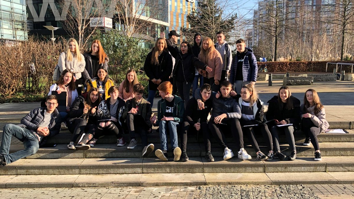 Last week our Year 11 students enjoyed a GCSE Geography Fieldwork visit to Salford Quays to investigate the impact of regeneration on the local area. #geographyrocks