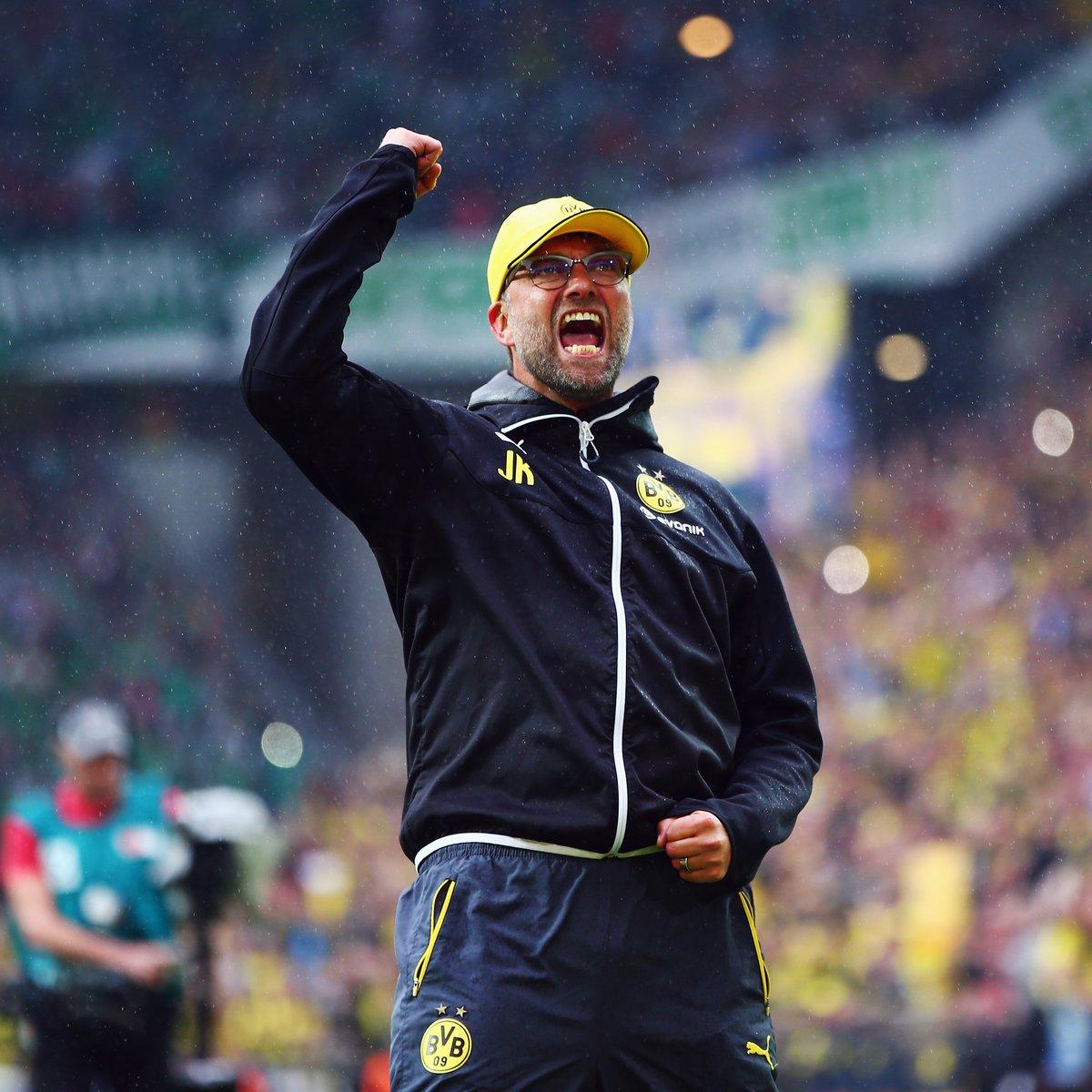 "Goal on Twitter: ""Throwback to when Jurgen Klopp said goodbye to Borussia  Dortmund 😢… """