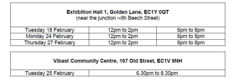 BEECH STREET - From mid-March 2020, the City will be introducing traffic changes on Beech Street, Bridgewater Street and Golden Lane in a bid to cut air pollution. Speak to staff at a drop-in event.