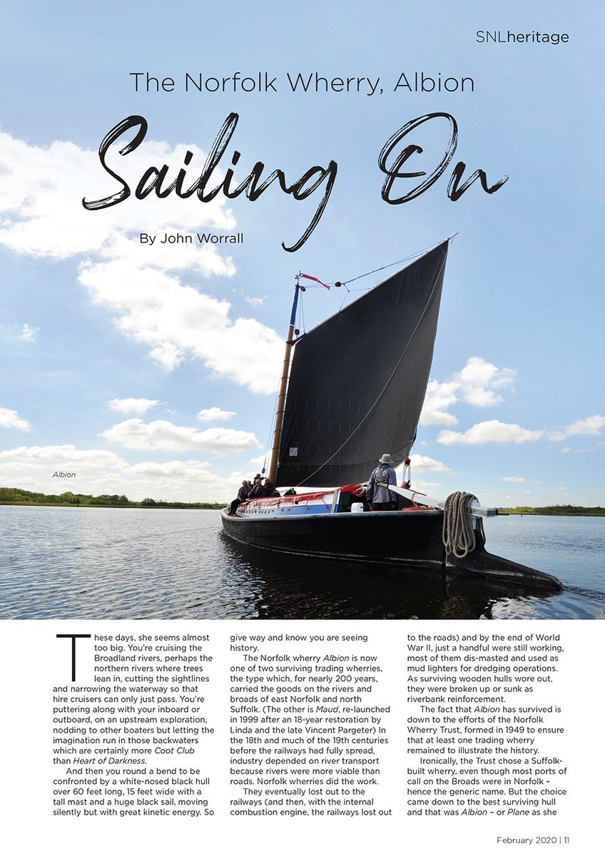 In this month's issue check out John Worrall finding out about the #norfolk Wherry, Albion #sailing #februaryissue #suffolk #norfolk #lifestylemagazine pic.twitter.com/b6t29Opjq5