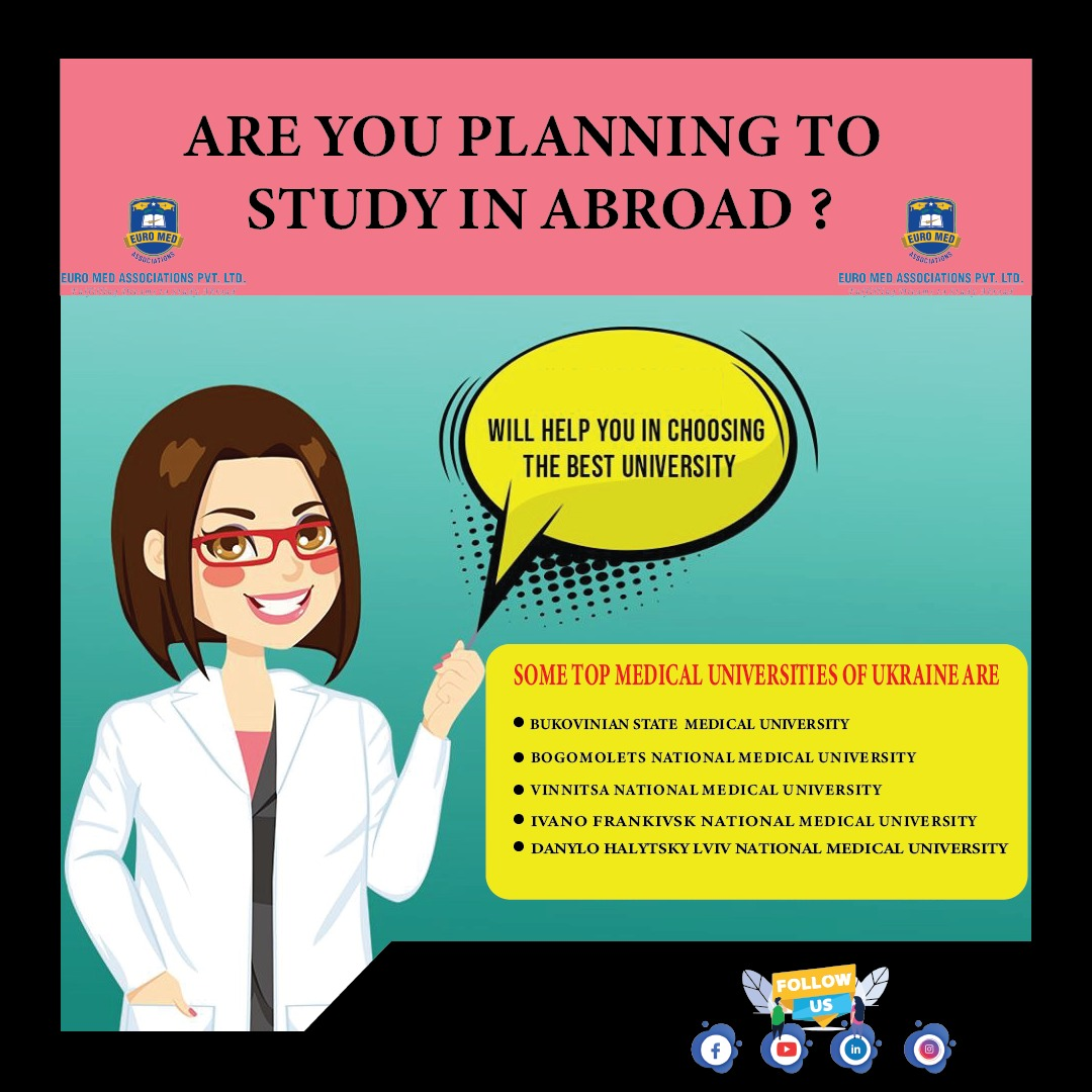 MBBS in abroad happens to be an excellent option since the fee structure of MCI approved Universities is at a low cost.  𝐒𝐭𝐚𝐲 𝐭𝐮𝐧𝐞𝐝 𝐰𝐢𝐭𝐡 𝐮𝐬 http://www.euromedassociation.com  𝘠𝘰𝘶𝘛𝘶𝘣𝘦: http://bit.ly/314PAV2  #mbbs #mbbsinabroad #abroadstudy #ukraine #mbbsukrainepic.twitter.com/qBoN5Jj6Xb