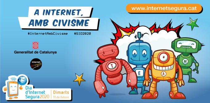 #DiaInternetSegura El vostre fill o filla està realment preparat per navegar per Internet❓ És capaç de diferenciar entre contingut veritable i fals❓ Coneix els perills d'Internet❓ Facilita dades personals o privades a estranys❓ https://t.co/dumcp6vTxJ #InternetambCivisme https://t.co/cBpAwflR09