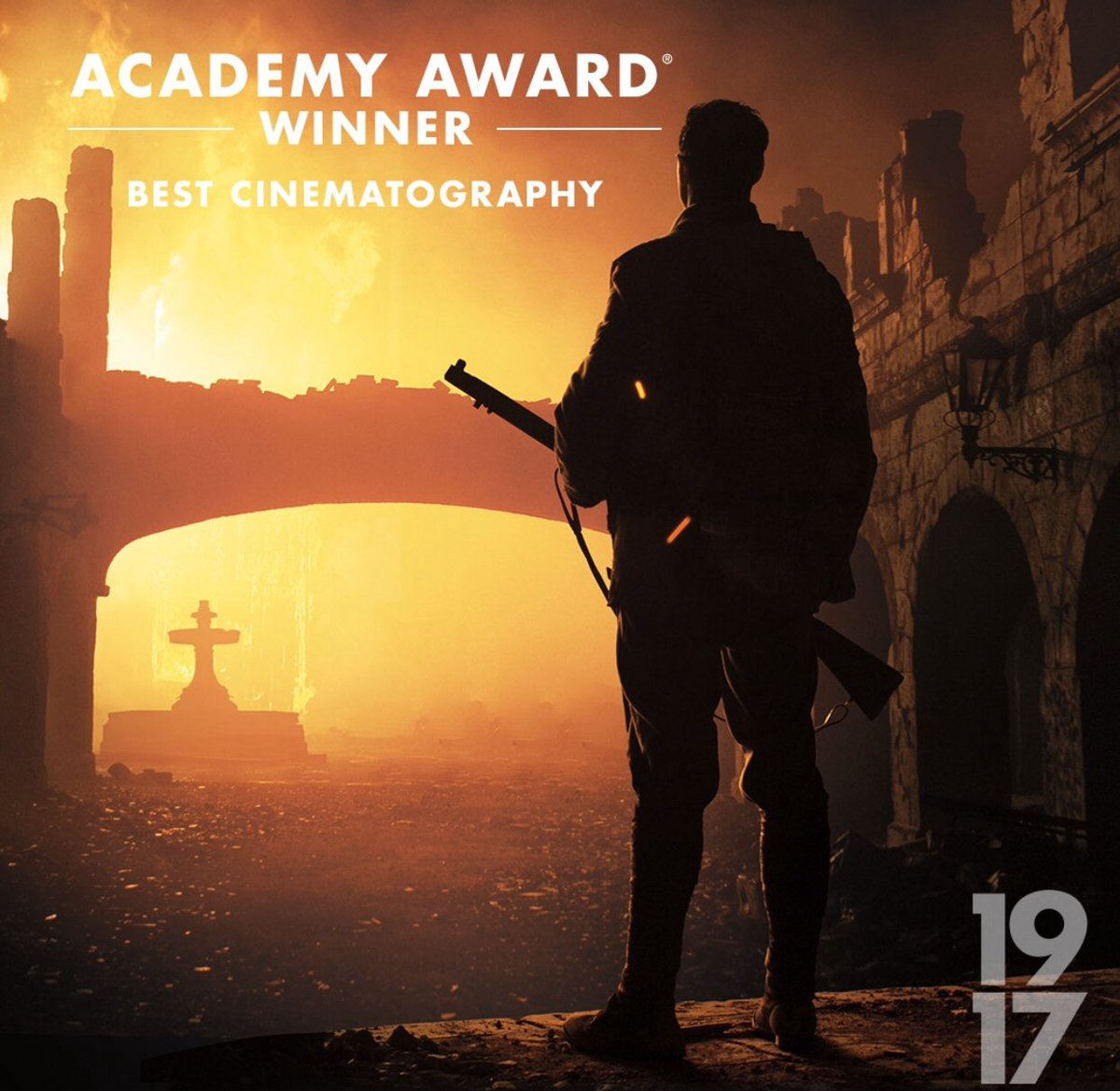 #1917Film is the winner of 3 #Oscars including Best Cinematography - @deakinsarchives, Best Visual Effects and Best Sound Mixing. In cinemas everywhere now.