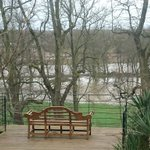 The view of Avenham Park and the River Ribble from our office today #flood #StormCiara