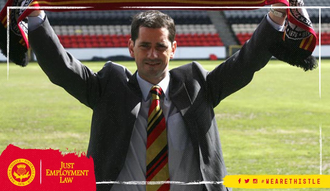 The thoughts of everyone at Partick Thistle are with former player and manager Jackie McNamara and his family tonight. https://t.co/krMPvyCM3g