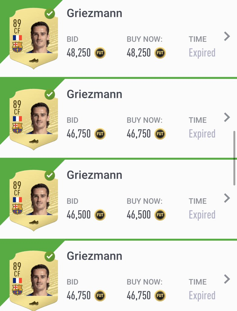 The sales:  Inv: 576.000 Sales: 655.750 #PAT: 46.963   If you are starting to reach profit don't hold cards just sell, buy again and repeat. Buy <43.000 (hunter)  Fifa20 #investments #Futchampions #FUTureStars #FUT #sbc #FutTrader #FifaTrader #MarqueeMatchUpspic.twitter.com/UNwhzbaona
