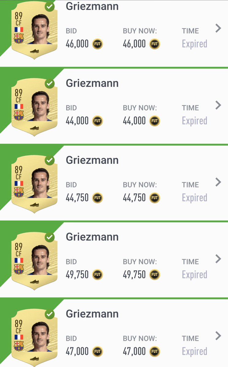 The sales:  Inv: 576.000 Sales: 655.750 #PAT: 46.963   If you are starting to reach profit don't hold cards just sell, buy again and repeat. Buy <43.000 (hunter)  Fifa20 #investments #Futchampions #FUTureStars #FUT #sbc #FutTrader #FifaTrader #MarqueeMatchUpspic.twitter.com/2Pc6wZ02Er