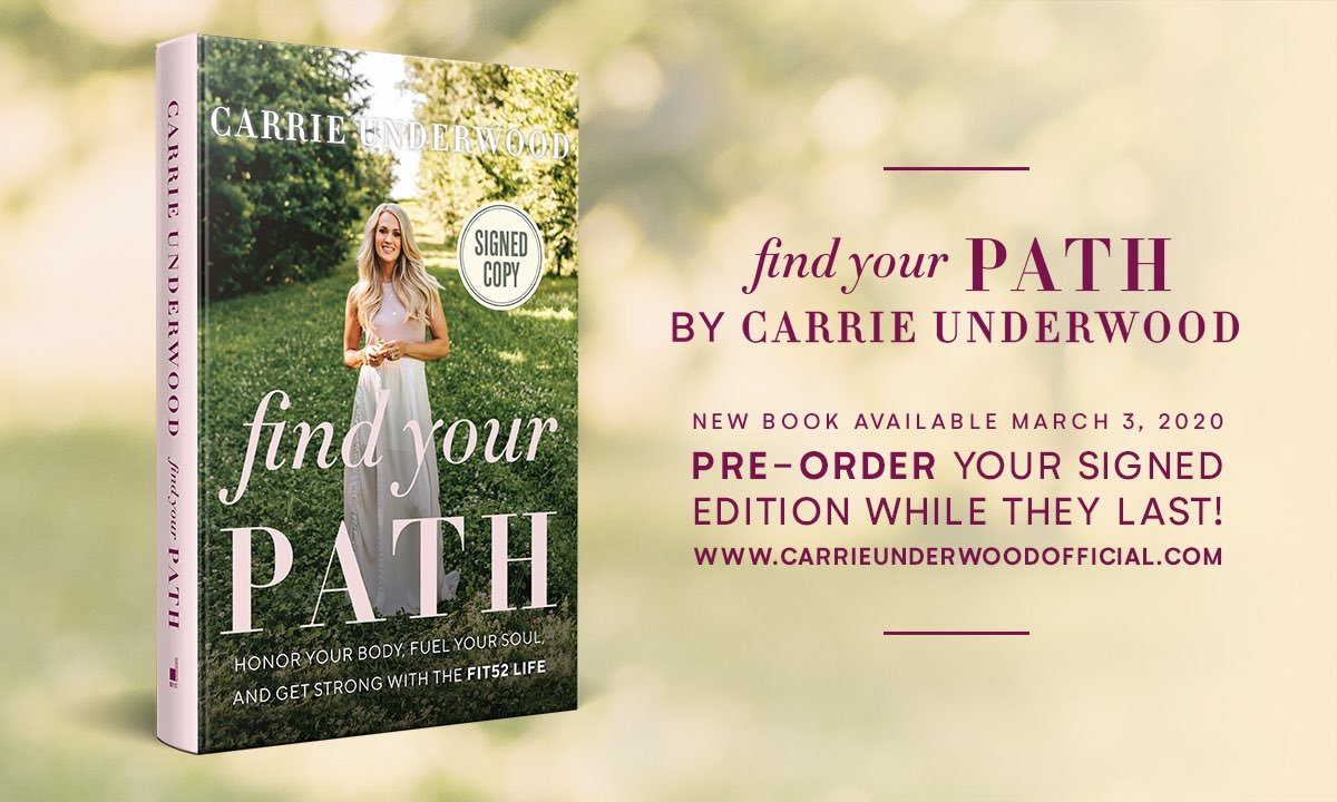 There are only a few signed copies of #FindYourPath left! Get yours now at @booksamillion. -TeamCU https://www.booksamillion.com/p/Find-Your-Path-Autographed-Copy/Carrie-Underwood/9780063025233?id=7710823595487&_ga=2.139582452.673563902.1580331752-46300674.1571082364…