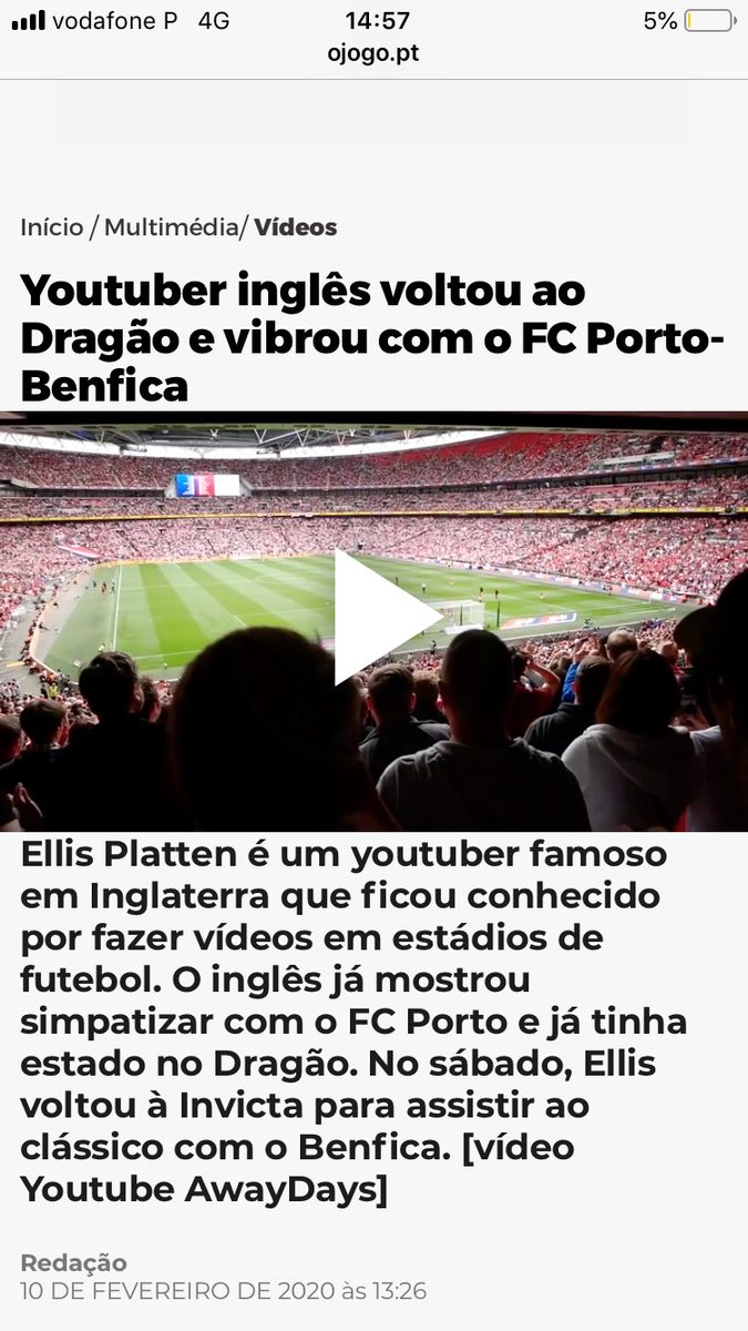 "Ellis Platten - AwayDays on Twitter: ""One of the biggest news publications  in Portugal has allowed hundreds of thousands of people to see Jodie tell  me to ""get up bitch"" 😂 The"