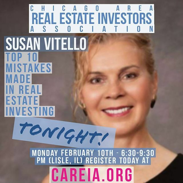 Come out on TONIGHT to learn about the Top 10 Mistakes Made In Real Estate Investing from Susan Vitello. Susan will be joining us live and in-person.  #mistakes #leasing #management #propertymanagment #realestate #education #learn #money #cash #now #FIRE… https://www.instagram.com/p/B8Y_W34IGc0/pic.twitter.com/0Phwyq0j9n