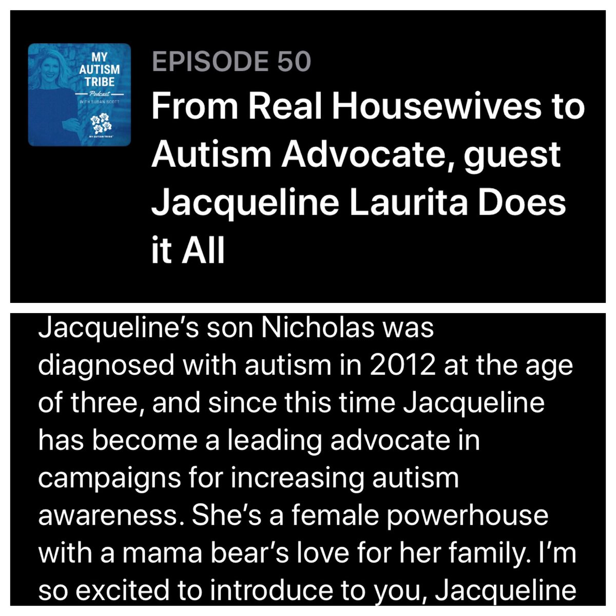 Check out my interview with @MyAutismTribe Episode #50  🤗❤️
