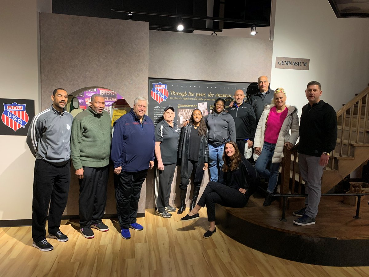 Thanks to the folks from AAU for stopping by and touring the Hall of Fame this weekend!