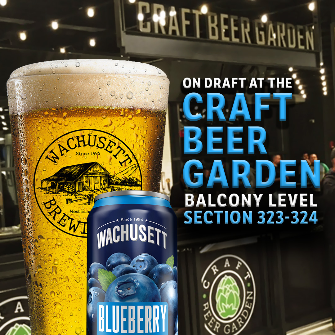Make sure you grab @WachusettBrew Blueberry #ondraft from the Craft Beer Garden at @tdgarden while you enjoy the @NHLBruins & @celtics games this week!Wed & Sat BruinsThu Celtics#craftmass #wachusettbrewing #blueberry #tdgarden #bruins #celtics #craftbeergarden #craftbeer