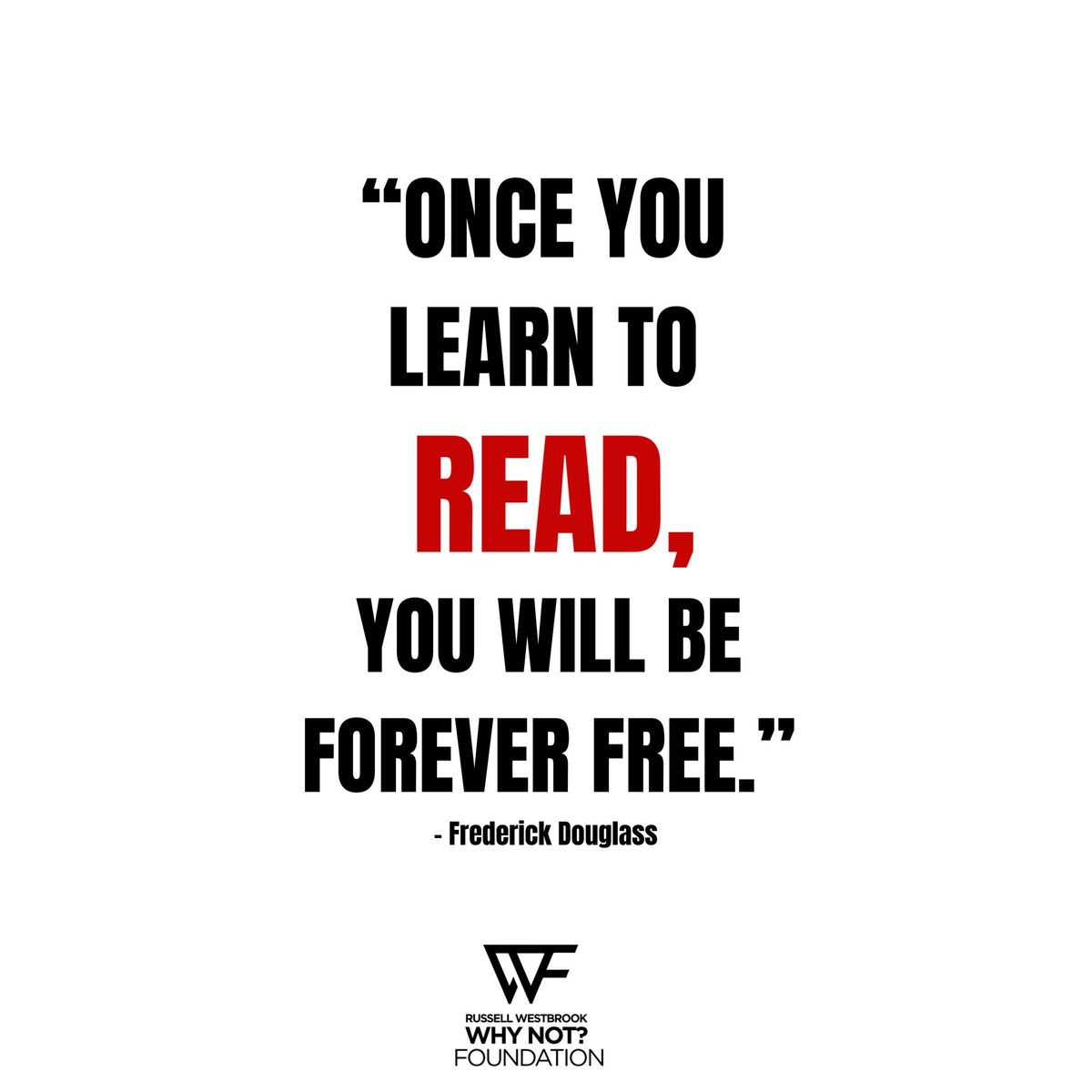 """""""Once you learn to read, you will be forever free."""" - Frederick Douglass  Give back by donating old books to your local community centers, thrift stores, or school libraries. #WhyNot https://t.co/zf0iwN7Mi0"""