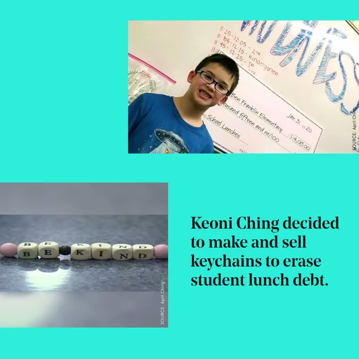 Keoni Ching is making the world he wants by selling handmade keychains. Not for himself, but to cover student lunch debt at his school, @BenFranklin_ES, and six others. Way to go, Keoni. #maketheworldyouwant