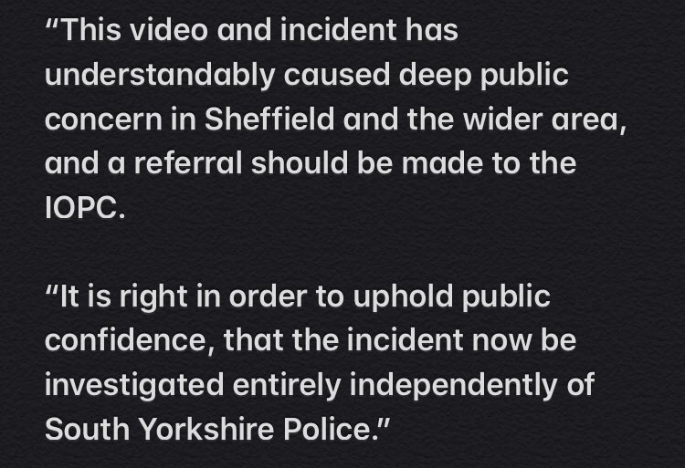 Sheffield Heeley MP and shadow policing minister Louise Haigh has urged South Yorkshire Police to refer themselves to the Independent Office for Police Conduct after a 16-year-old Wednesday fan was hit by an officer carrying a baton following the game against Barnsley ⬇️