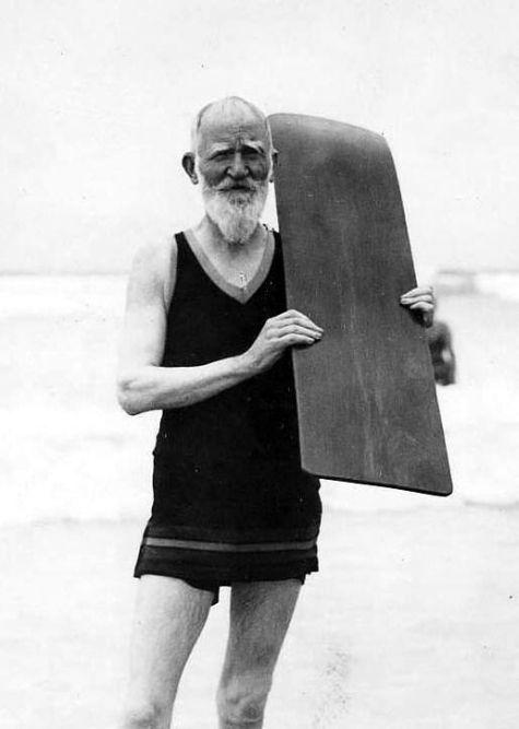 George Bernard Shaw surfing