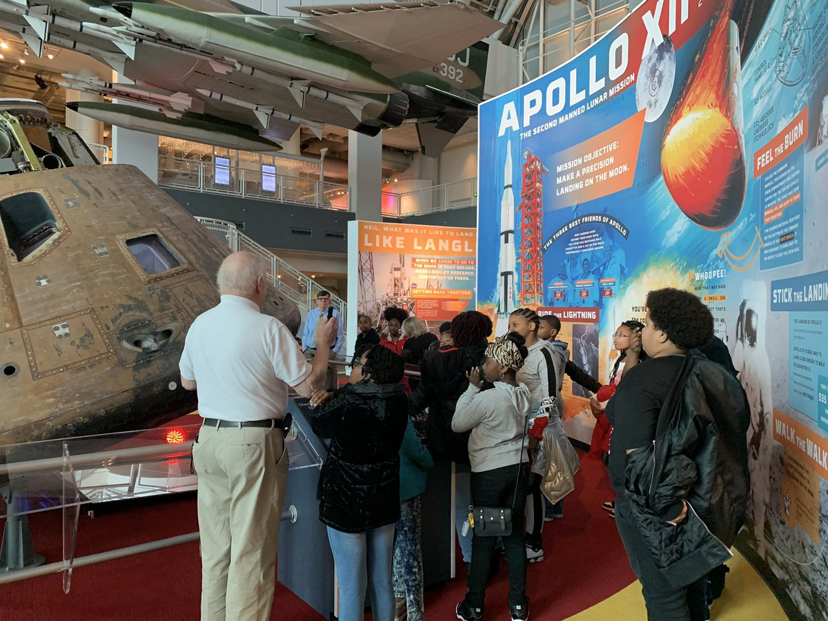 BTW 5th graders at the Virginia Air and Space Center #spsk12proud #buildingthebestSPS #VASC