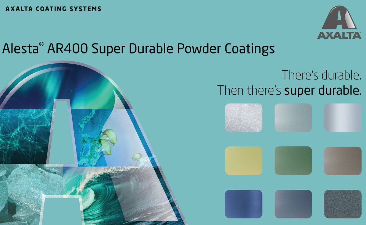 Alesta AR400 Powder Coatings provide super durability against weather conditions and intense UV radiation. These premium polyesters feature high quality exterior grade pigments and superior outdoor weathering properties that exceed AAMA 2604 requirements.  https://t.co/hDTrBpm8lg https://t.co/QPfkgm9Z0j