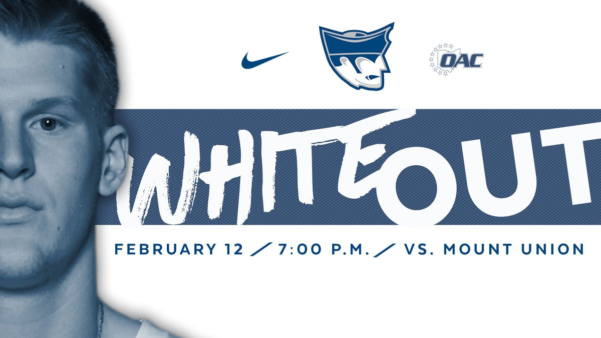 Wednesday's game vs. Mount Union will be a white out! #PioNation we need the Banjo rocking! @MariettaManiacs https://t.co/HS6fwBXAoQ