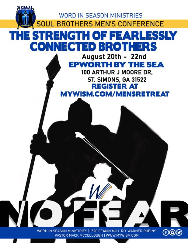 Soul Brothers, mark your calendar and get ready for our 2020 Men's Retreat August 20th - 22nd at Epworth By The Sea! #mensretreat #fearlesslyconnectedbrothers #nofear #soulbrothers #epworthbythesea #stsimonsisland #savethedatepic.twitter.com/mJXTvrdNSb