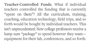 3) The proposed solution: just give teachers the money.