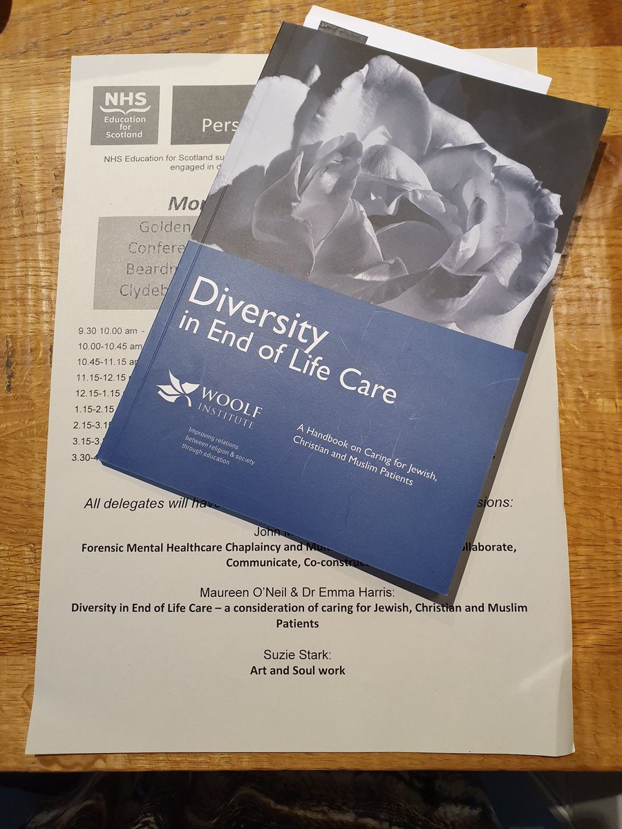 Emma Harris joined Maureen O'Neil, Director, FiOP, at @NHS_Education conf to present @Woolf_Institute's latest publication, #Diversity in #EndofLifeCare: A #Handbook on Caring for #Jewish, #Christian and #Muslim Patients.  Thanks @NHS_Education for enabling #dialogue #discussion