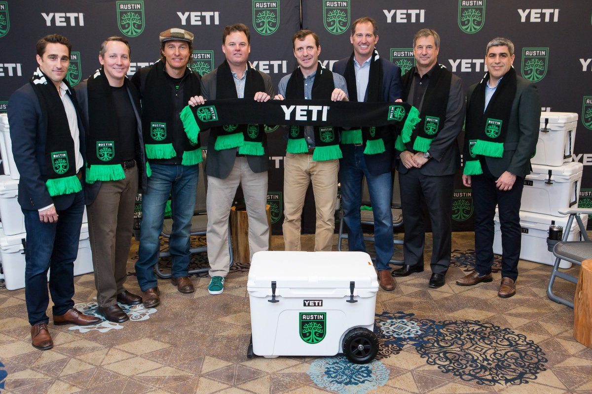 It's official 💯 @YETICoolers | @McConaughey | #AustinFC