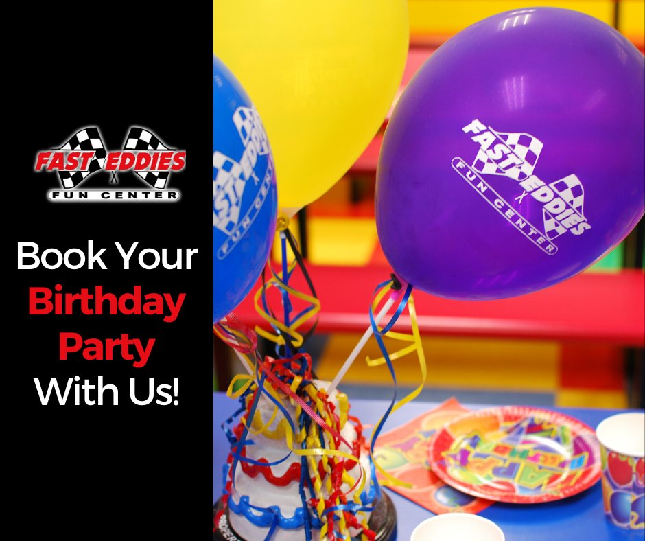Do you want your child's birthday party to be fun, active and hassle-free? Book your party with us at Fast Eddies Fun Center!  Call us at (850) 433-7735! #FastEddiesFunCenter #BookYourParty #BirthdayParty #VisitPensacolapic.twitter.com/aTWCiPGjWr