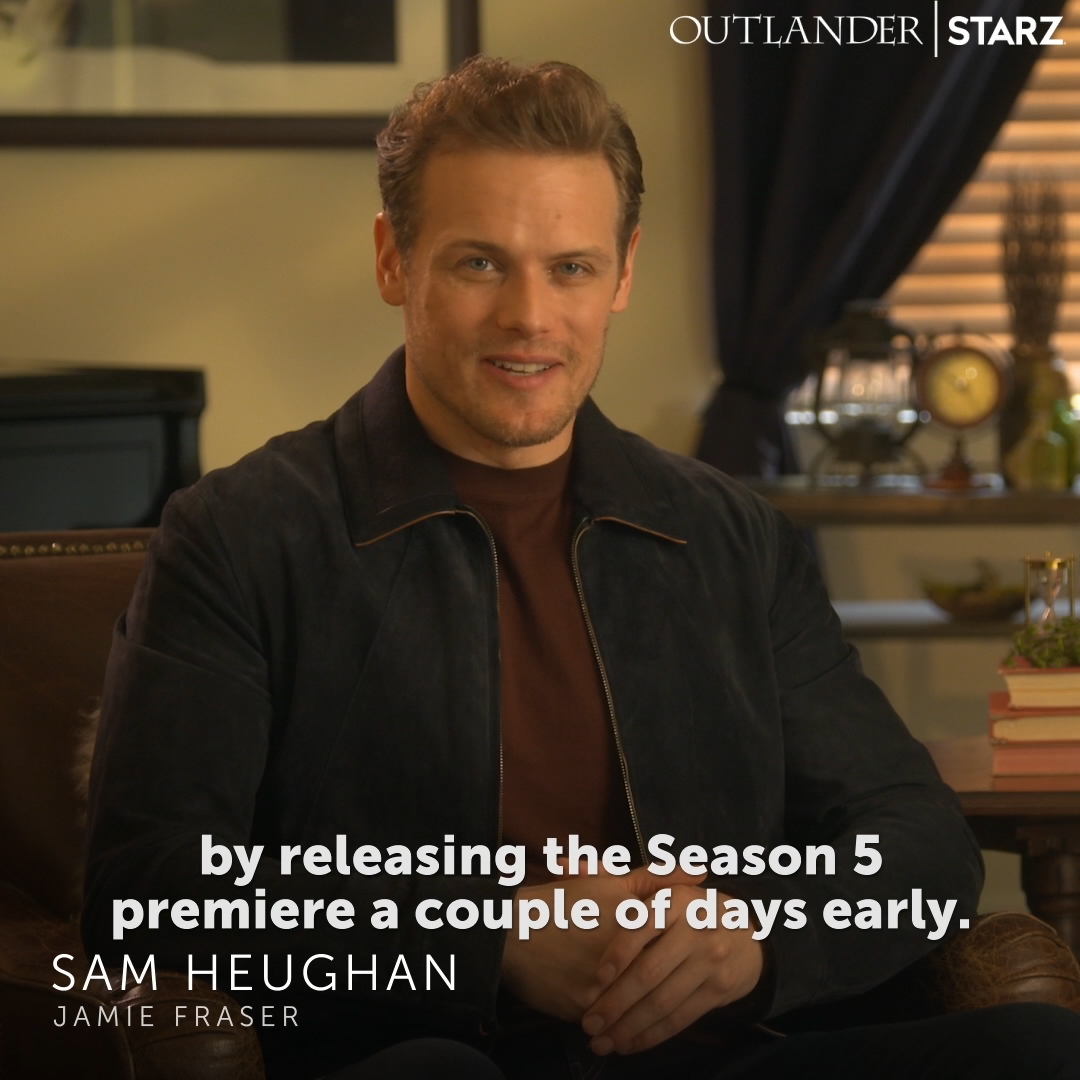 @b_teut We have a Valentine's Day surprise, clan: the #Outlander Season 5 premiere is here early! Watch it NOW on the @STARZ App.