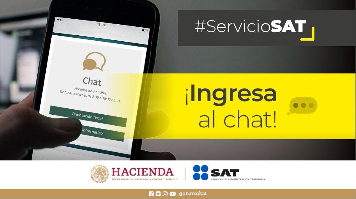#ServicioSAT 📱Resuelve tus dudas fiscales a través de nuestro chat 👩💻Nosotros te ayudamos 🤓👉http://bit.ly/chatsat