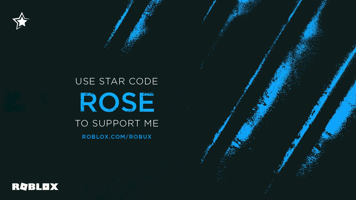 My Weave Roblox Code Rose On Twitter Hi Everyone I Have Joined The Roblox Star Program And I Am So Lucky To Be Able To Say That I Have A Star Code Make Sure To