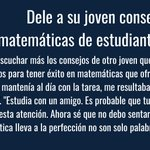 Image for the Tweet beginning: Share math tips from successful