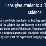 Image for the Tweet beginning: Labs give students a 3-D