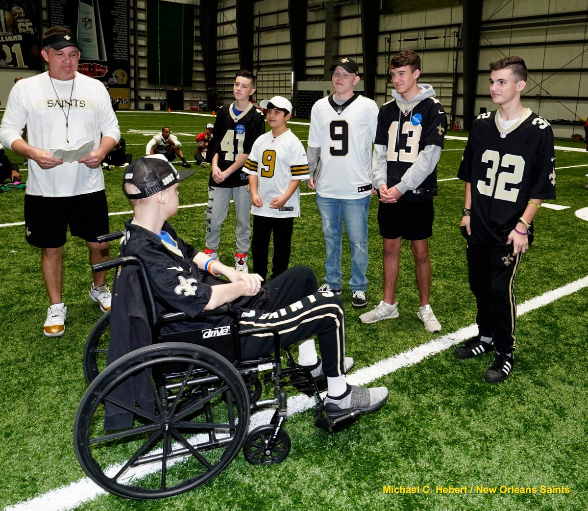 The Saints & @PresleyWealth recently hosted kids from @MakeAWish as they met current players & members of the 2009 Superbowl team! The Kicks for Kids program raised $10,200 for Make-A-Wish this season as Presley Wealth Management donated $300 for each successful field goal.