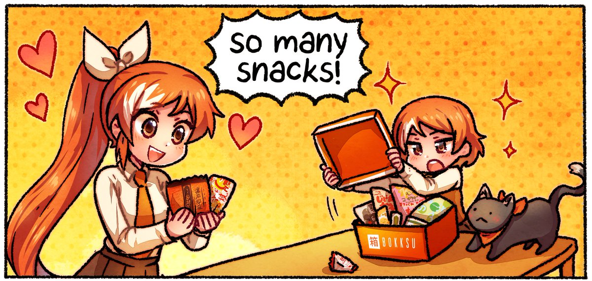 Thanks to our friends at @bokksu for supporting the #AnimeAwards! ✨ In this weeks The Daily Life of Crunchyroll-Hime (by @coughdrops!!) 🍬 Sudachi, Hime, and Yuzu enjoy a months worth of delicious snacks in TEN MINUTES 💀