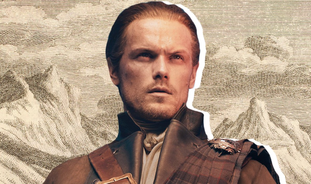 """""""We may be grandparents, but we're still hot! Maybe even hotter than ever.""""   Sam Heughan on Jamie and Claire in #OutlanderS5:"""