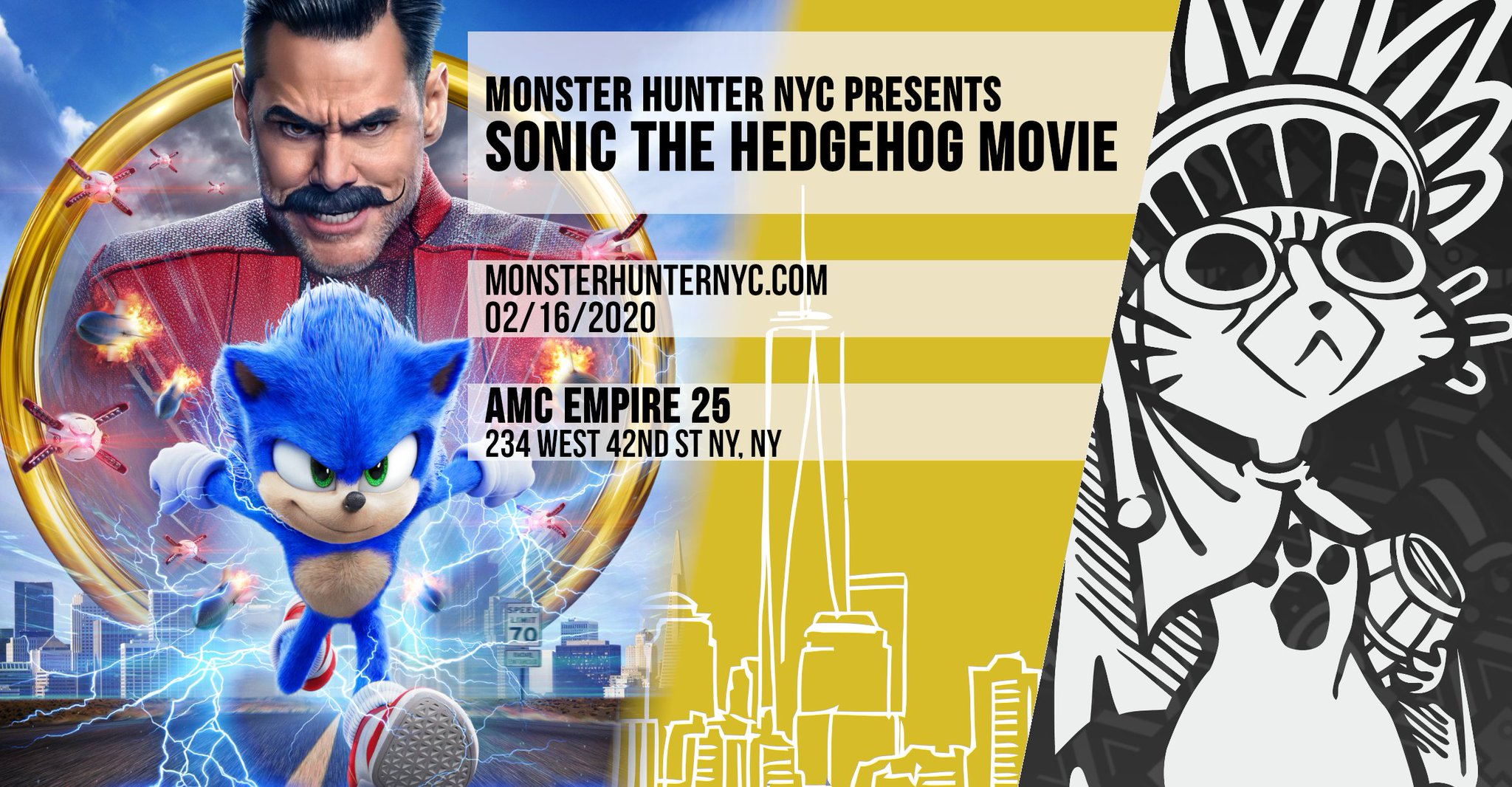 Mhnyc On Twitter Gotta Go Fast And Rush To Support A Movie We Forced To Have Reanimated Join Us On Sun Feb 16th As We Watch Sonic The Hedgehog For More Information