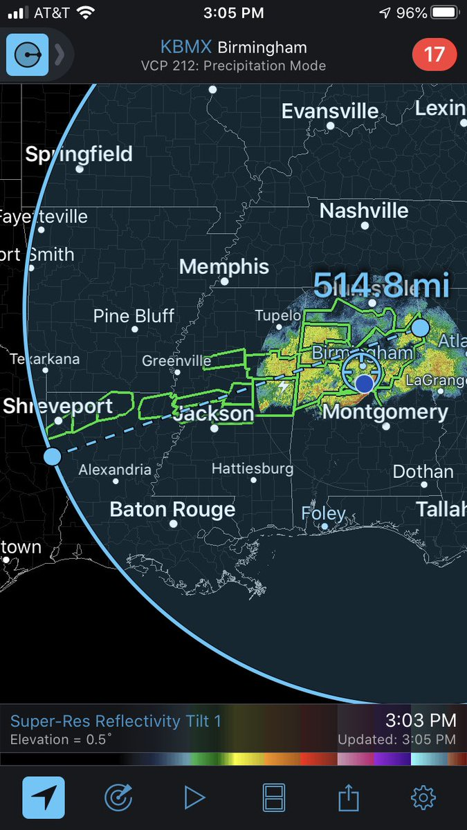 @JoelYoungTV Over 500 miles of #flashfloodwarning across the south. #alwx #mswx #lawx