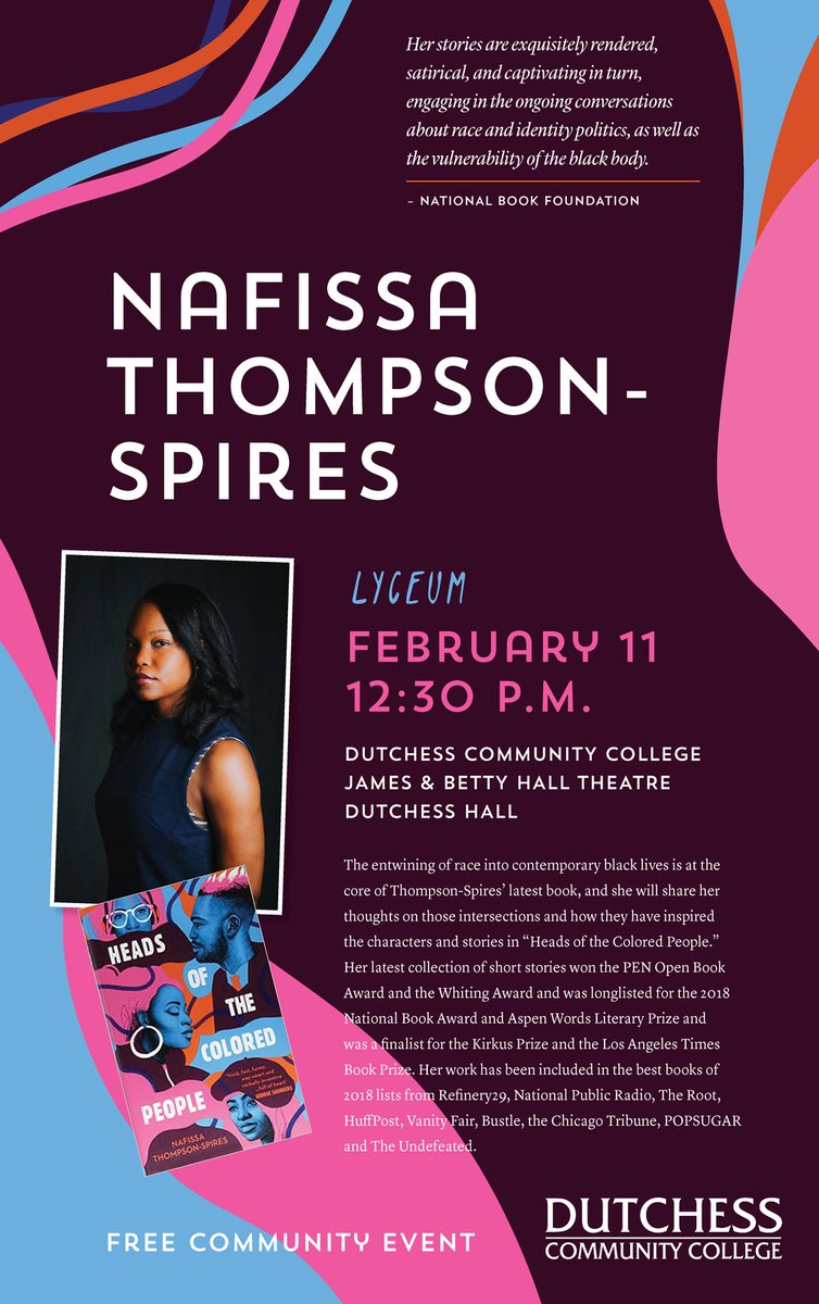 Catch Dr. Nafissa Thompson-Spires' Lyceum presentation tomorrow at 12:30 p.m. in the James and Betty Hall Theatre!
