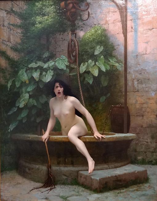 ジャン=レオン・ジェローム『人類に恥を知らせるため井戸から出てくる〈真実〉』 1896年 アン・デ・ボージュ美術館