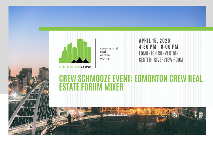 Are you attending #EREF? Don't miss out on the Edmonton CREW Schmooze! We are delighted to invite our Members and a Guest to the CREW Real Estate Forum Networking Event, on April 15, 2020. RSVP by April 14 at https://bit.ly/3bucTfx   #CREWevents #CREWlife #edmontonCREW #yegcrepic.twitter.com/4CQ6jHS50M