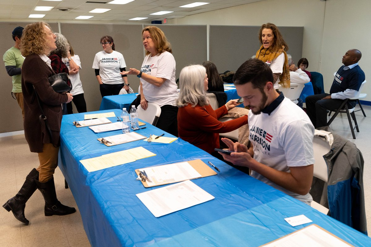 The first step to #SendLindseyHome is registering folks to vote. So, we spent the day in North Charleston doing just that! Can you commit to registering five friends to vote this November?