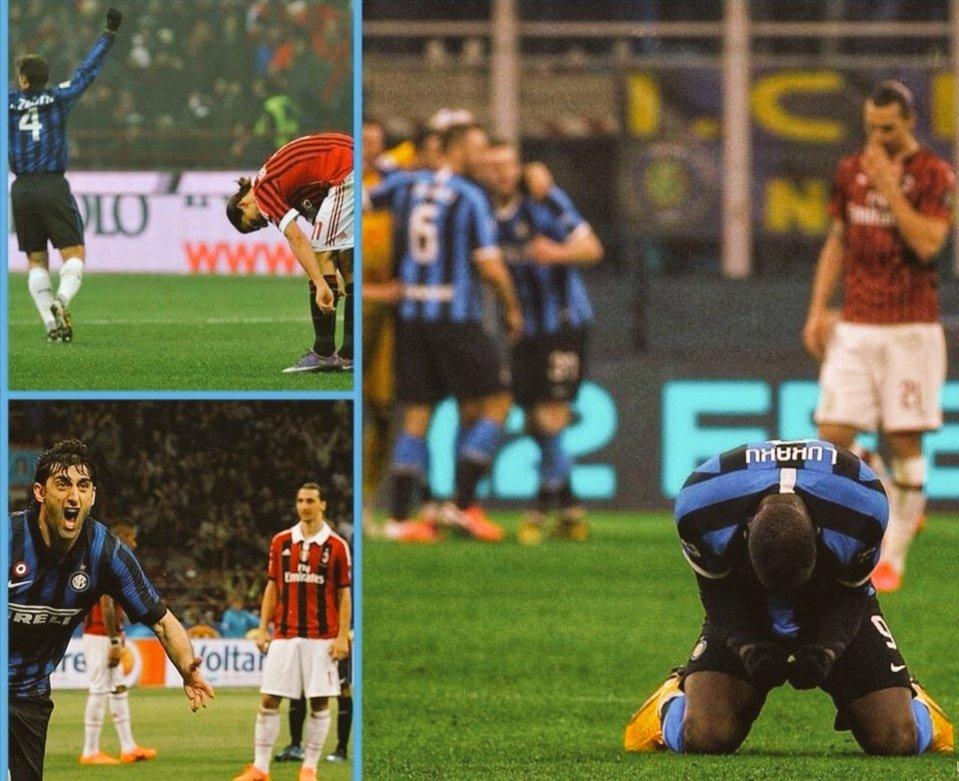 #DerbyDiMilano sempre la stessa storia.... #MilanoSiamoNoi ⚫🔵 caro @Ibra_official