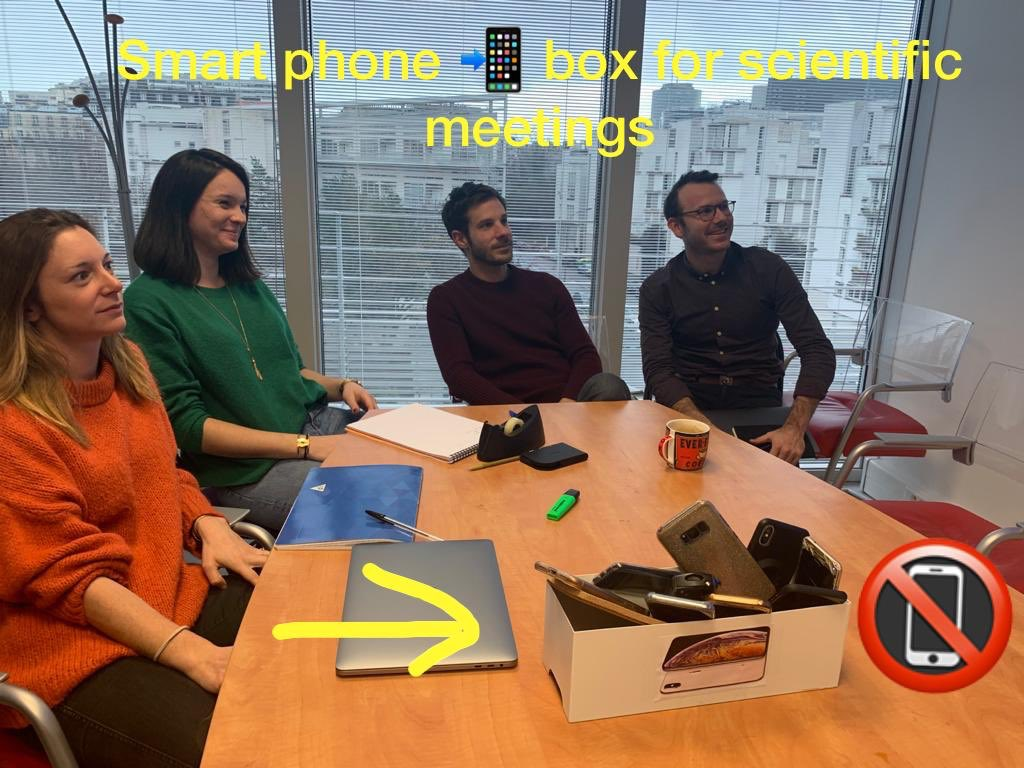 Want to increase productivity and concentration in scientific meetings ? TRY the #smartphone #Box. Get rid of compulsive checking of #emails #notifications #apps #whatsap #WeatherForecast #instafamous #tinder #Facebook #NYSE #crossfitsession FOCUS on #INNOVATION ! #medtwitterpic.twitter.com/ywvBFFGo7C