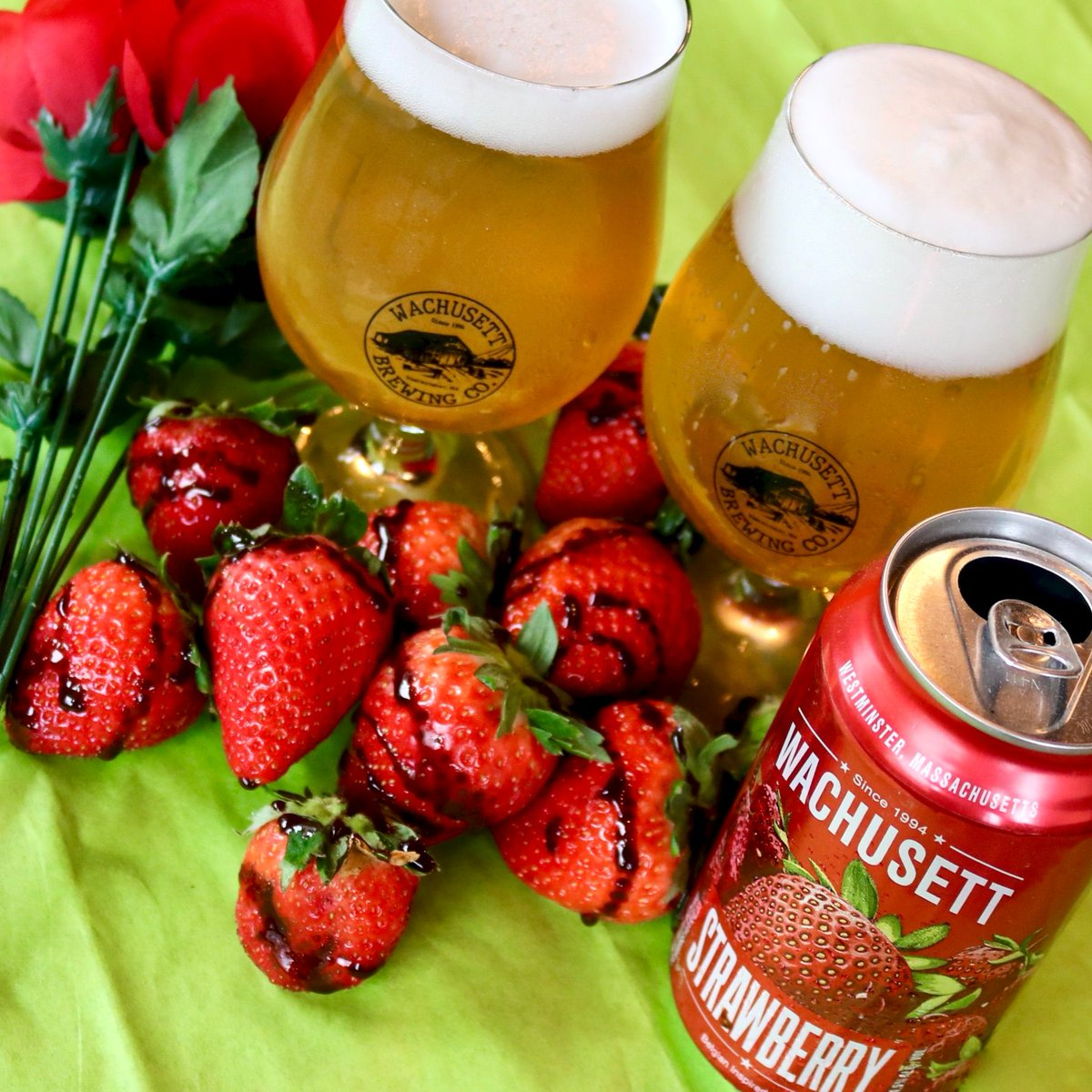 Need the ideal pairing for Valentine's Day? Get your sweetheart chocolate-covered strawberries and the perfect complement, a 12-pack of our luscious Strawberry Ale.