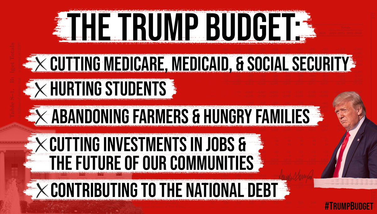 Half a trillion slashed from Medicare. $900 billion cut from Medicaid. The #TrumpBudget is the latest in a long line of attacks the President has carried out on the health & economic security of hard-working Americans. https://speaker.gov/newsroom/21020