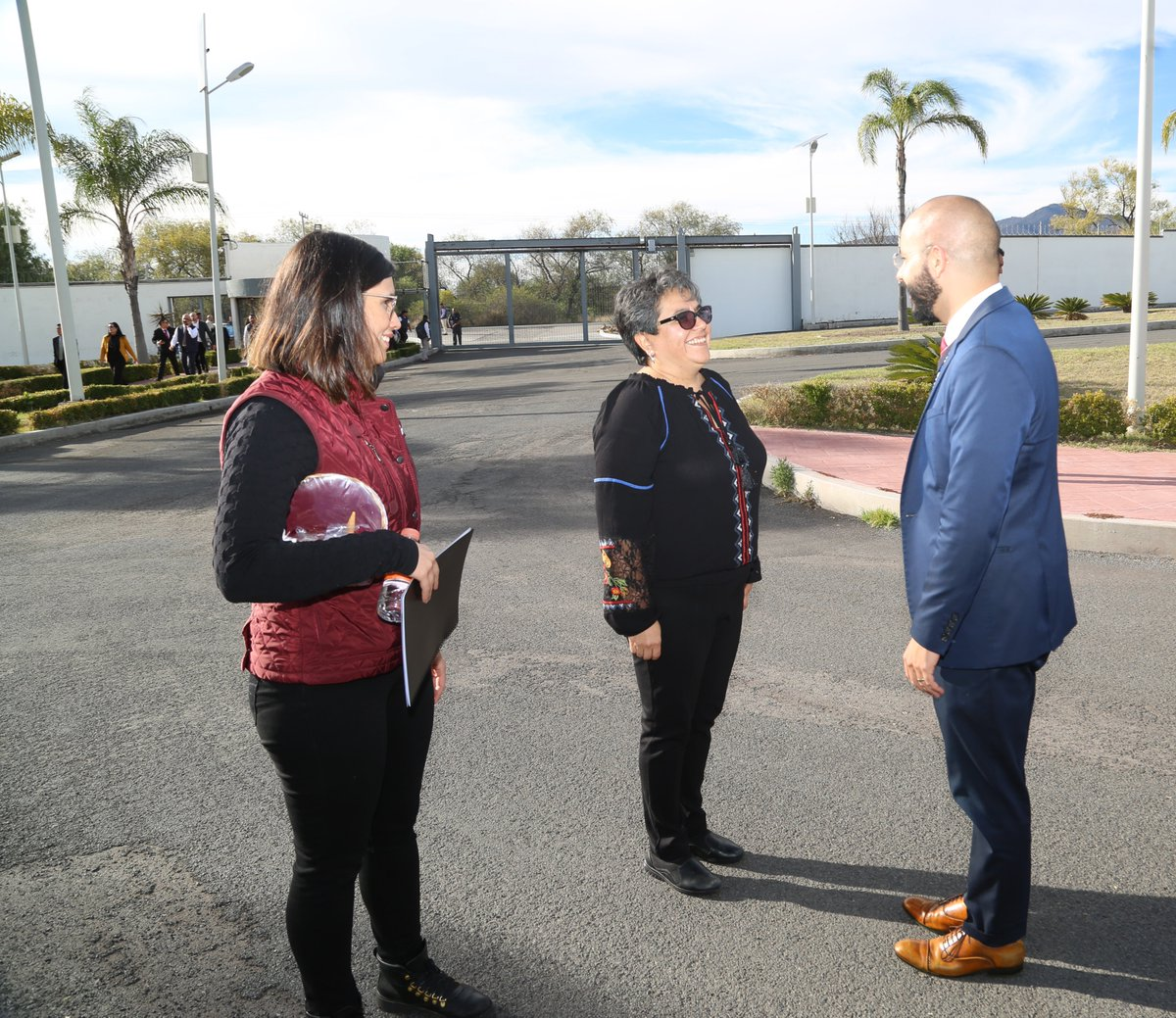 La Jefa del SAT y Administradores Generales asistieron al Centro de Formación Tributaria y de Comercio Exterior, en Chichimequillas, Querétaro.